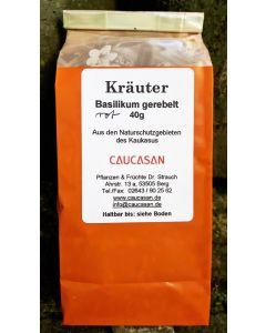 Getrocknete Kräuter Basilikum rot gerebelt, 40g