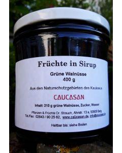 Früchte in Sirup Grüne Walnüsse wild, 370g