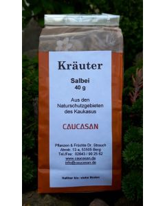 Getrocknete Kräuter Salbei gerebelt, 40g